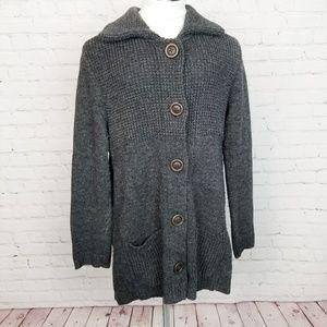 J.jill|Chunky Knit Wool Long Cardigan Sweater